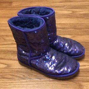Ugg Purple Glitter Boots